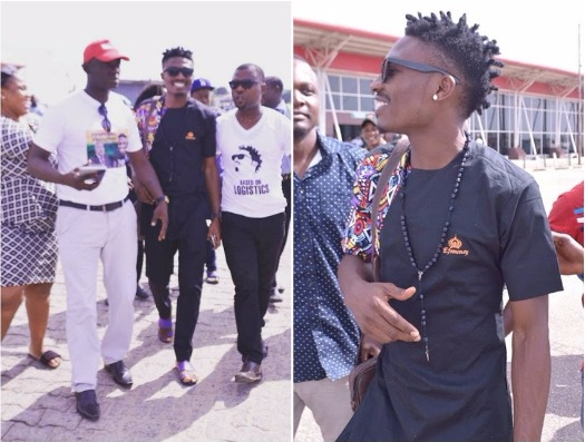 #Bbnaija Efe Ejeba arrives Warri for homecoming; See how he was received (Photos)