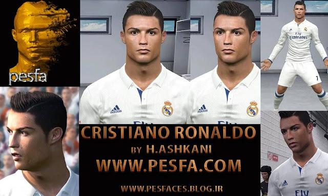 PES 2017 C. Ronaldo Face by H.Ashkani (pesfa)