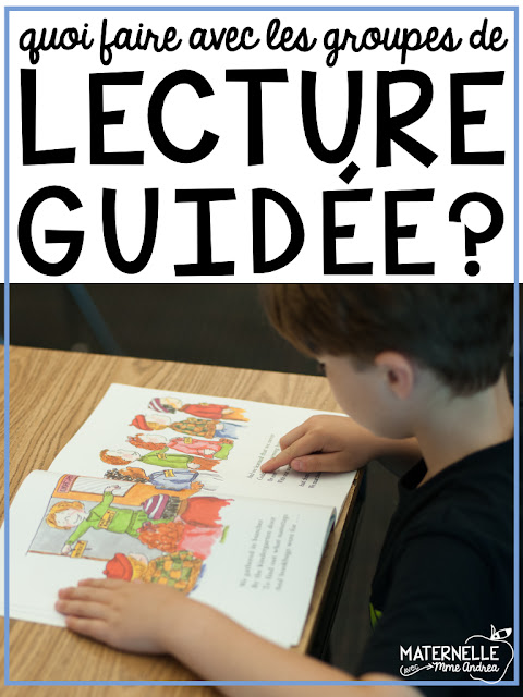 Looking for ideas for guided reading in your French kindergarten or first grade classroom? Here are some suggestions and ideas of what I do with my groups! (Lecture guidée maternelle)