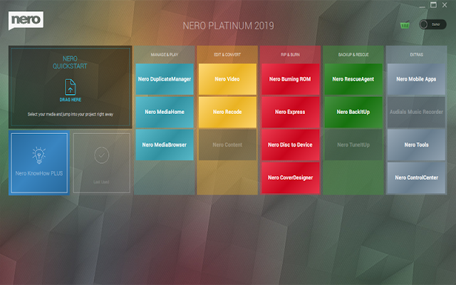 Nero Platinum 2019 Suite v20.0.07200