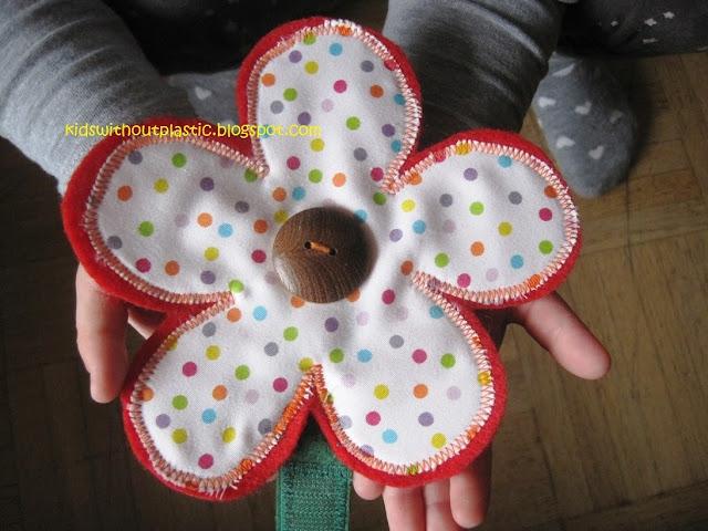 kwiatki z resztek materiału