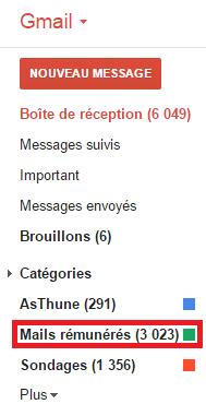 Filtrer les mails sur Gmail