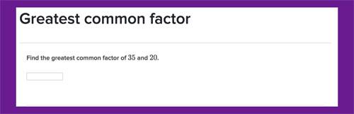 Actividad para reconocer el MCD de dos números