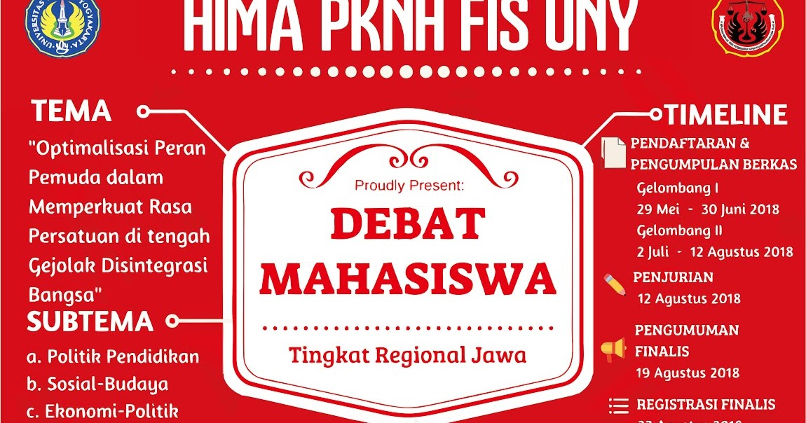 Pedoman Lomba Debat Mahasiswa 2018 Hima Pknh Fis Uny