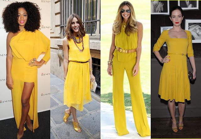 Resultado de imagem para look total amarelo