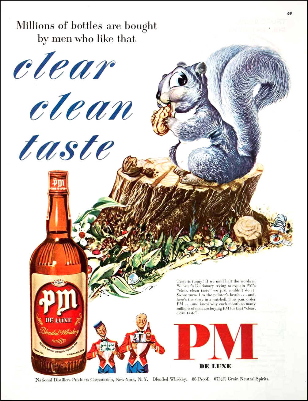 PM De Luxe Blended Whiskey - 1949