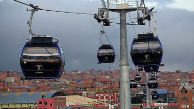 Bolivia: Evo Morales inaugura la línea más rápida del teleférico de La Paz