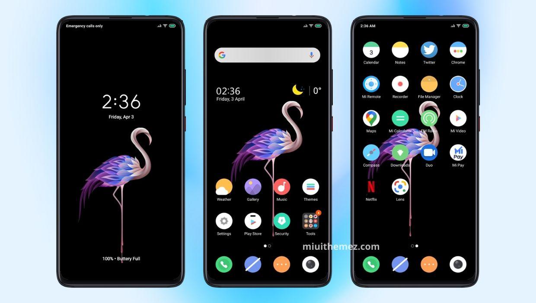 [HERUNTERLADEN] :  Sauberes schwarzes Ui MIUI-Thema |  Ein sauberes und minimales Thema für Xiaomi-Geräte