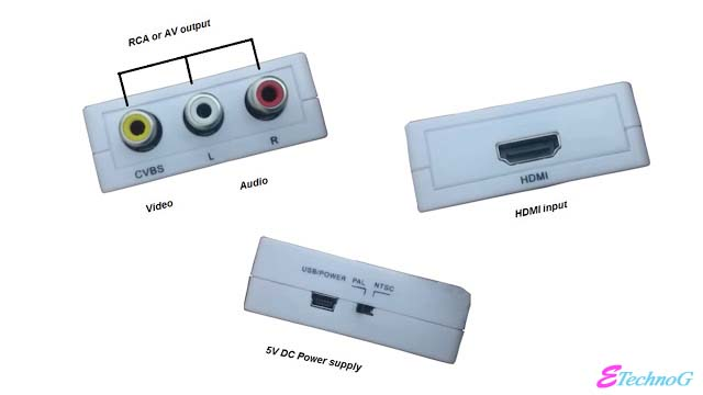 A very useful Gadget: HDMI to AV converter. Input and output ports of HDMI to AV converter,How HDMI to AV converter works?