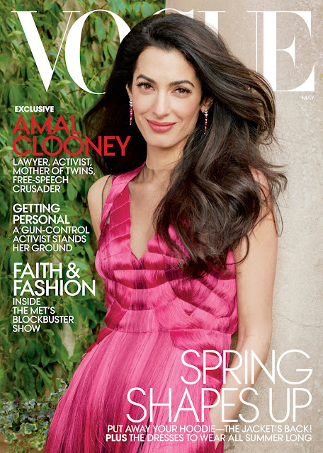Amal Clooney stars on the cover of Vogue May 2018