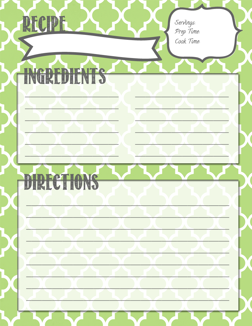 cookbook templates for mac - making it in the mitten recipe binder printables