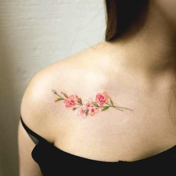 Tattoo Quotes Collar Bone: 50 Stunning Collar Bone Tattoos For Women And Men