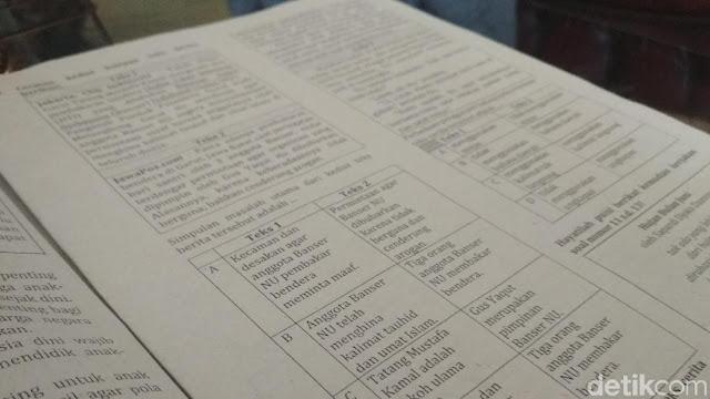 Ini Soal Ujian 'Bubarkan Banser' yang Menuai Kecaman