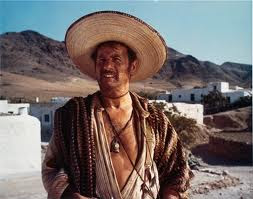 Eli Wallach as Tuco, wearing sombrero, The Good, the Bad and the Ugly, Directed by Sergio Leone
