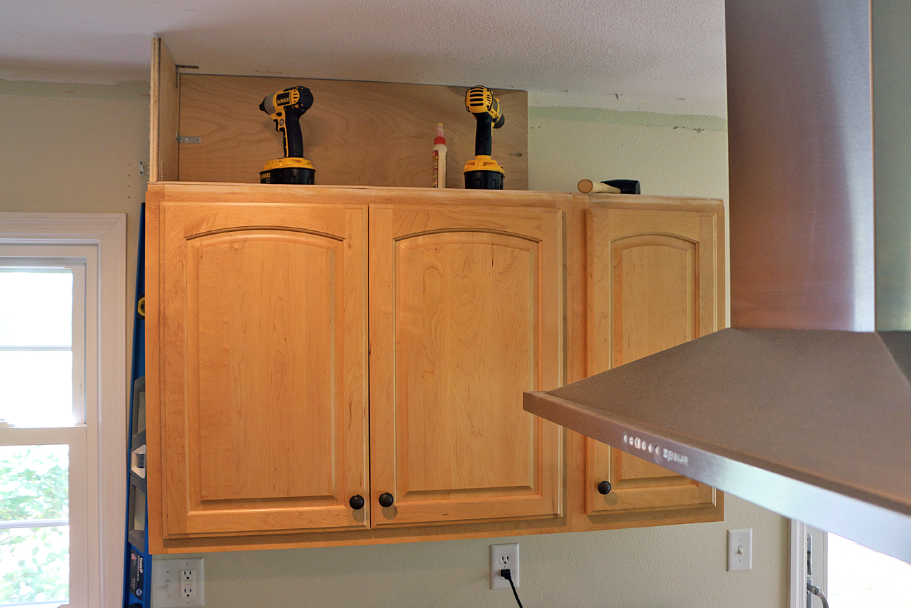 extend kitchen cabinets to ceiling my kitchen refresh extending my cabinets to the ceiling 15242