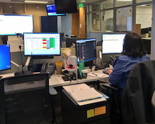 Photo of logistics staff in State EOC