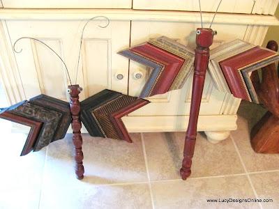 table leg dragonfly mixed media molding