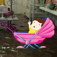 Play Wowescape Save the Baby from Flood