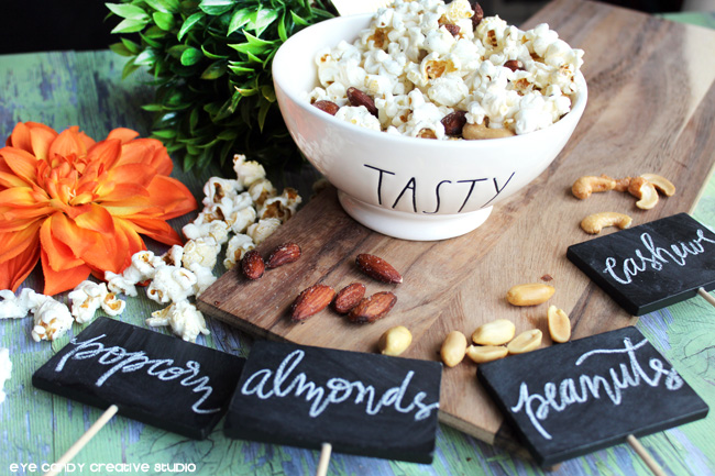 chalkboard lettering, fall snack ideas, organic on the go snack ideas