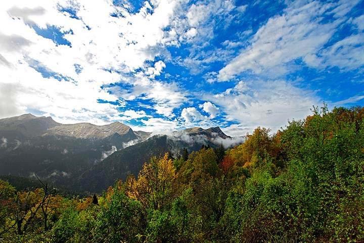 sonbaharda gökyüzü resimleri