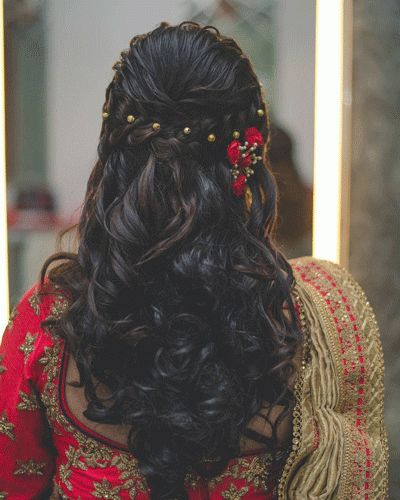 Indian Hairstyles For Long Hair: Beautiful Indian Bridal Hairstyles For Long Hair