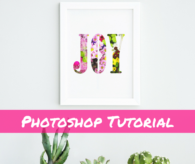 Photoshop how to, floral letters