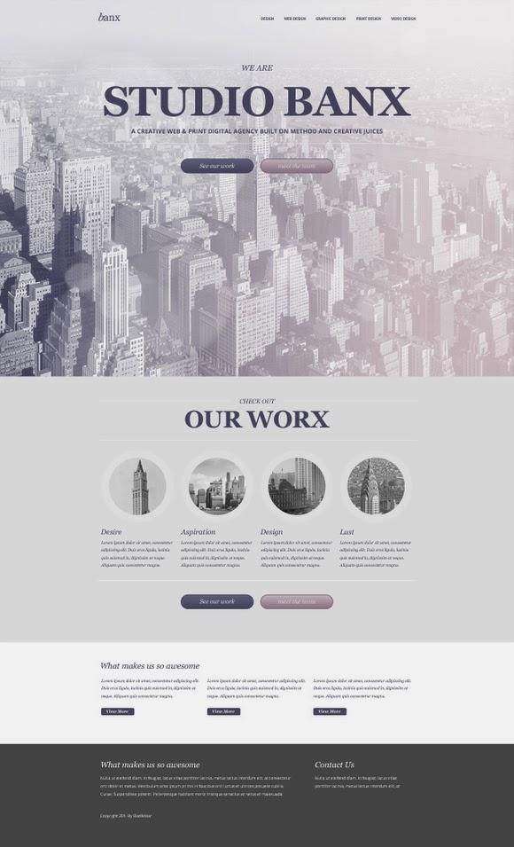 Banx – Web Design PSD