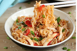 SWEET AND SOUR CHICKEN RAMEN NOODLES