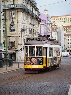 Tram number 12 in Lisbon, Portugal