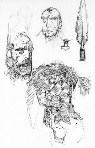 One of Mignola's sketches
