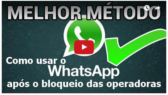 Como usar o whatsapp após o bloqueio das operadoras