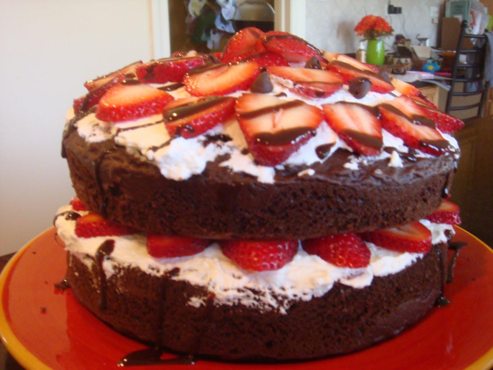 Keeping It Simple Dark Chocolate Cake W Whipped Cream