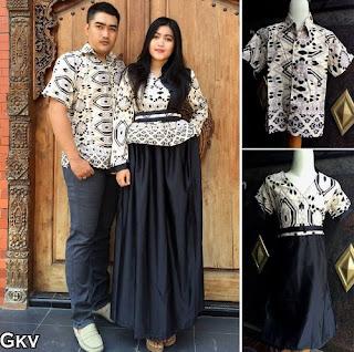 Model Baju Batik Couple Dengan Anak