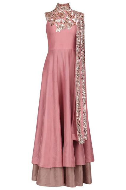 Top Anarkali Salwar Trend For Diwali double layer skirt type