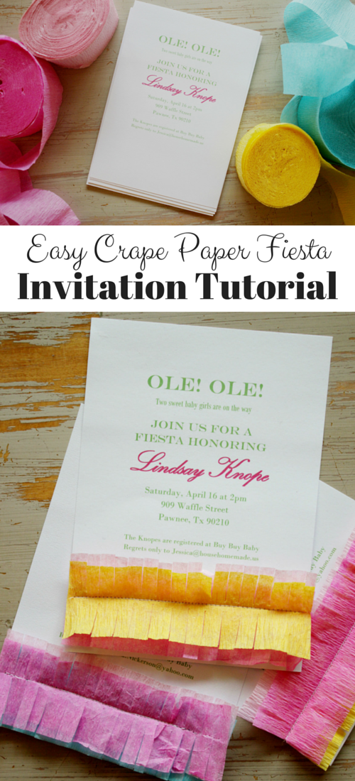 Crape Paper Fiesta Invitation tutorial