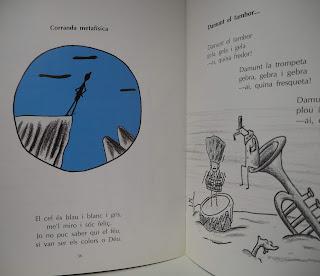 Llibre: Tren de paraules / Josep Maria Sala-Valldaura ; Il.: Carles Porta - Poesia: Corranda metafísica, p. 36  ISBN 8479353724  per Teresa Grau Ros