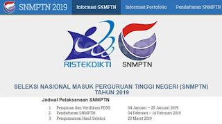 Syarat Dan Jadwal SNMPTN 2019