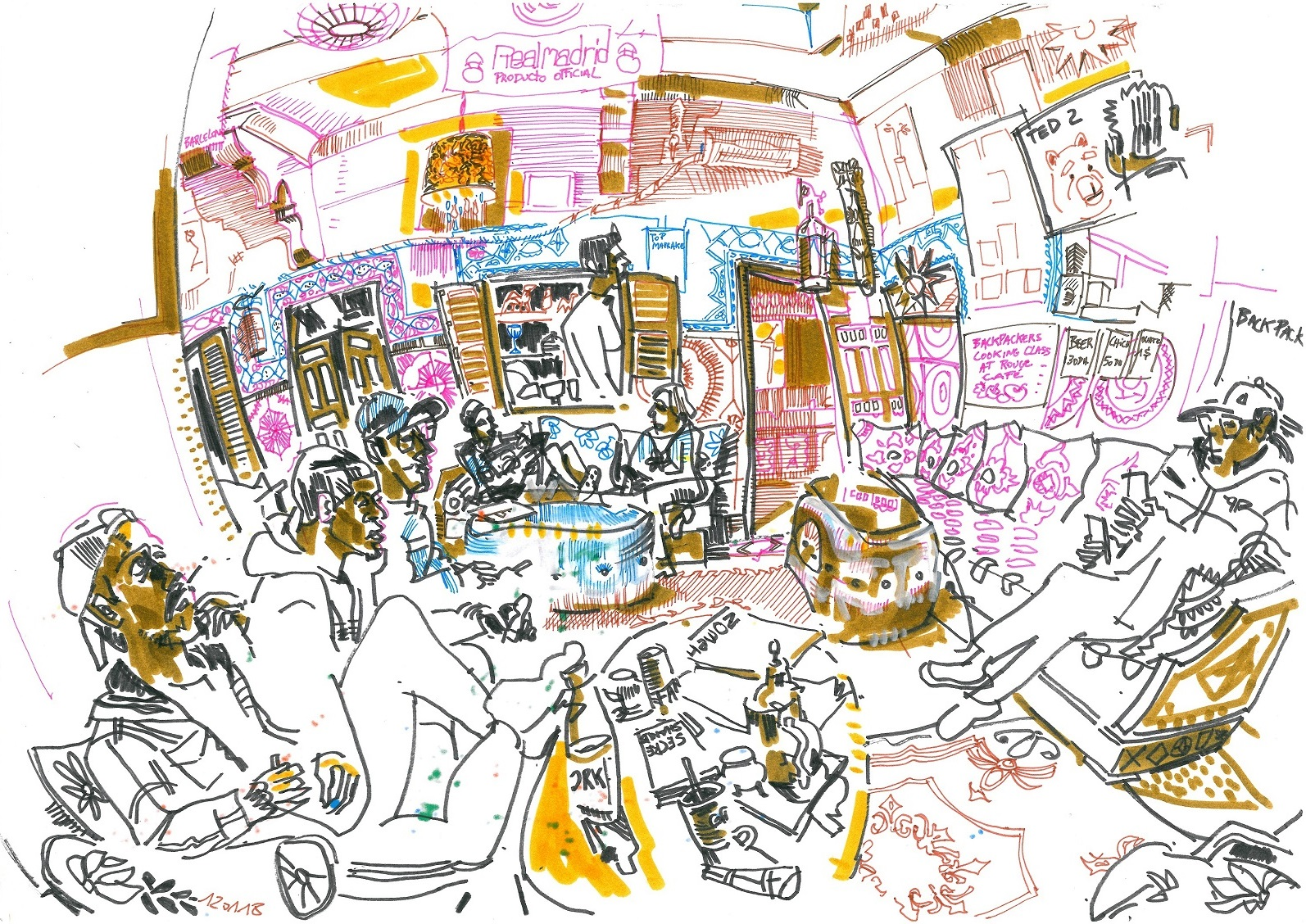 Crazy French artist sketches the kasbah | Urban Sketchers