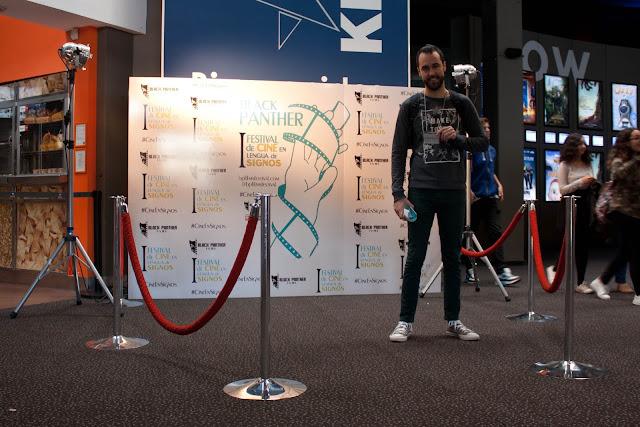 Un servidor, en el photocall del festival Black Panther Deaf-Film Festival
