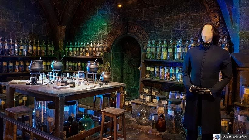 Sala de poções do professor Snape - Harry Potter em Londres