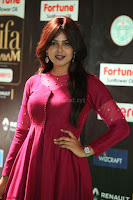 Monal Gajjar in Maroon Gown Stunning Cute Beauty at IIFA Utsavam Awards 2017 069.JPG