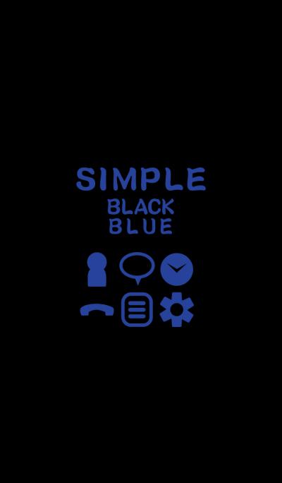 SIMPLE black*blue*