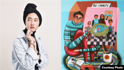 Imelda Adams, Seniman Asal Cilegon yang Karyanya Terpilih Tampil di Akun Resmi Instagram