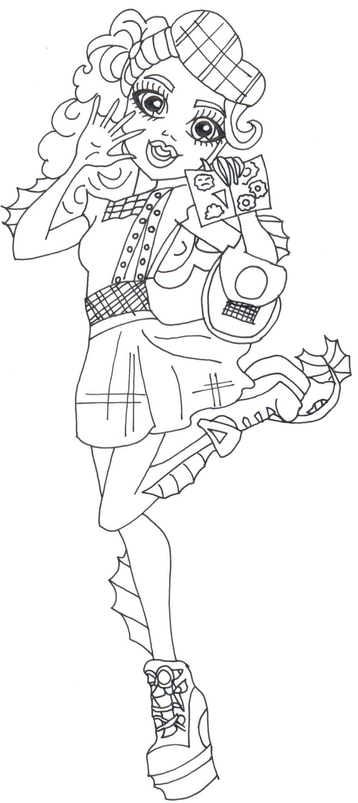 Free Printable Monster High Coloring Pages Lorna McNessie