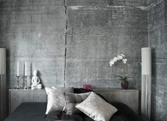 Concrete wall mural wallpaper bedroom