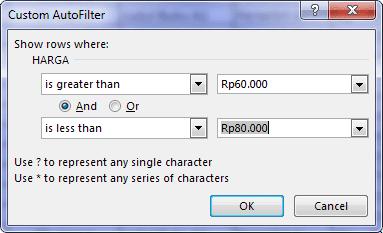 Autofilter Data Pada Excel 13