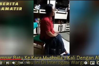 Ibu-Ibu Keturunan China Dua Kali Lempar Kaca Mushola, Warga bersama Polisi Datangi Rumahnya