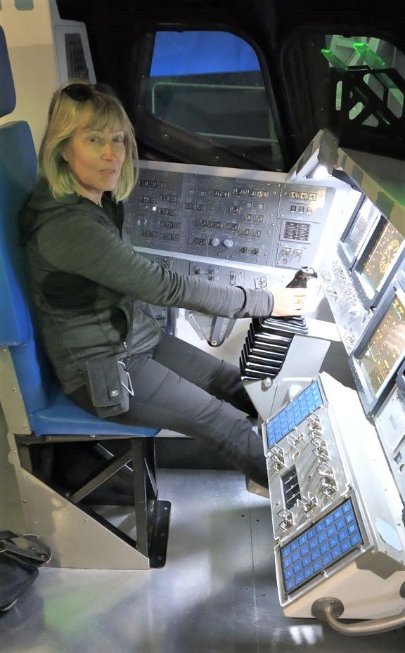 cabina di comando dello shuttle