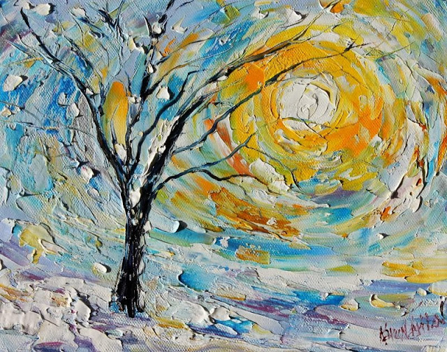 Image result for winter sunshine paintings