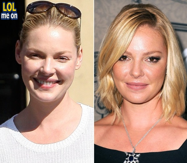 "funny celebrities picture shows Katherine Heigl from ""LOL me on"""